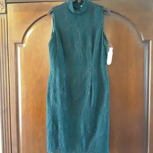 Dark green over navy lace dress, new w/ tag, sz 10